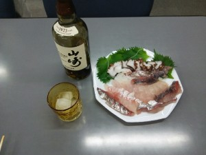 桜鯛で乾杯写真